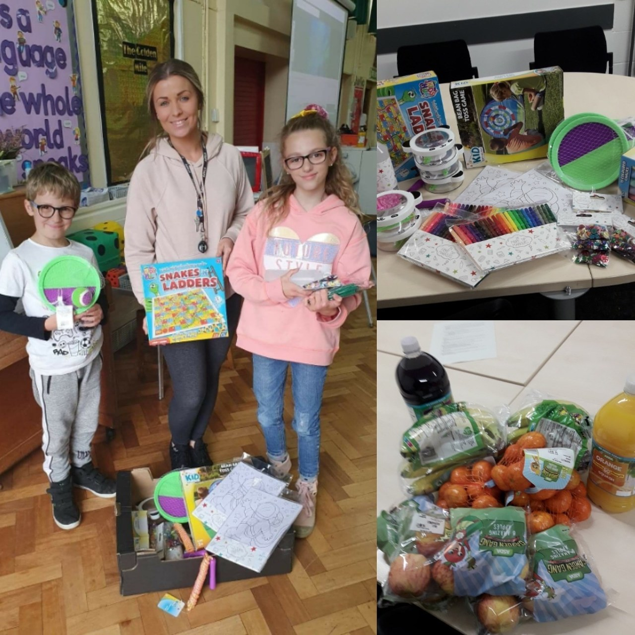 Donation to school | Asda Peterborough