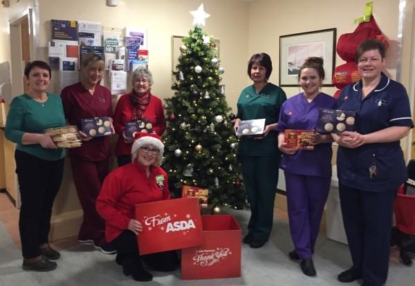 Asda Pwllheli community champion Jo Scott delivering gifts