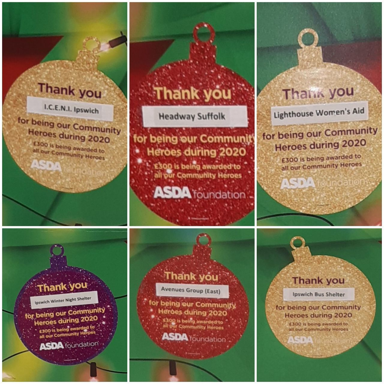 Celebrating our Local Community Heroes 2020.. Thank you to The Asda Foundation  | Asda Ipswich Stoke Park