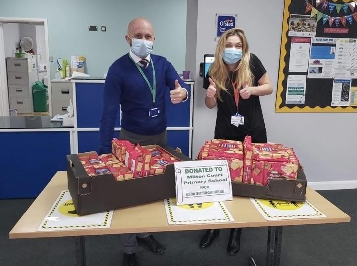 Milton Court Primary School Donation | Asda Sittingbourne
