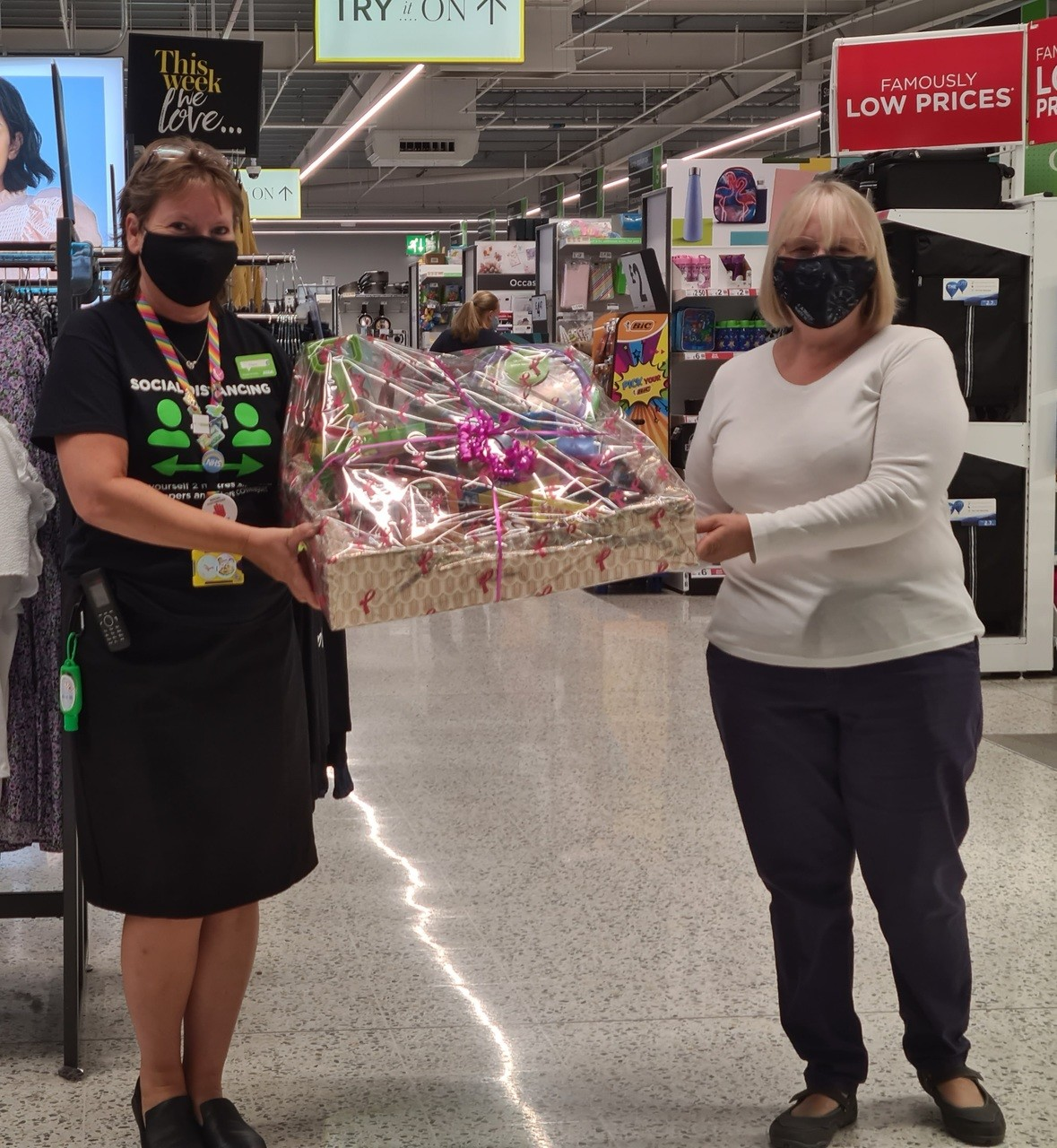 Val picks up a prize for the best scarecrow in her village competition | Asda Newport Isle of Wight