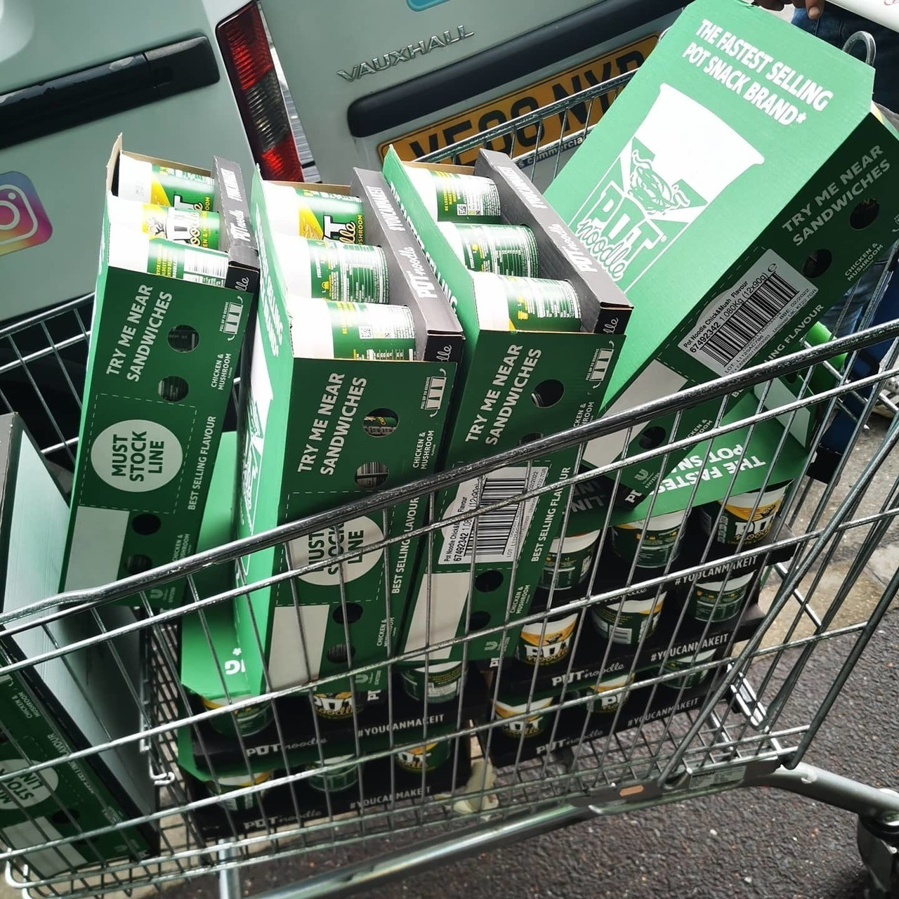 Pot Noodles to help with Surviving the Streets | Asda St Leonards on Sea
