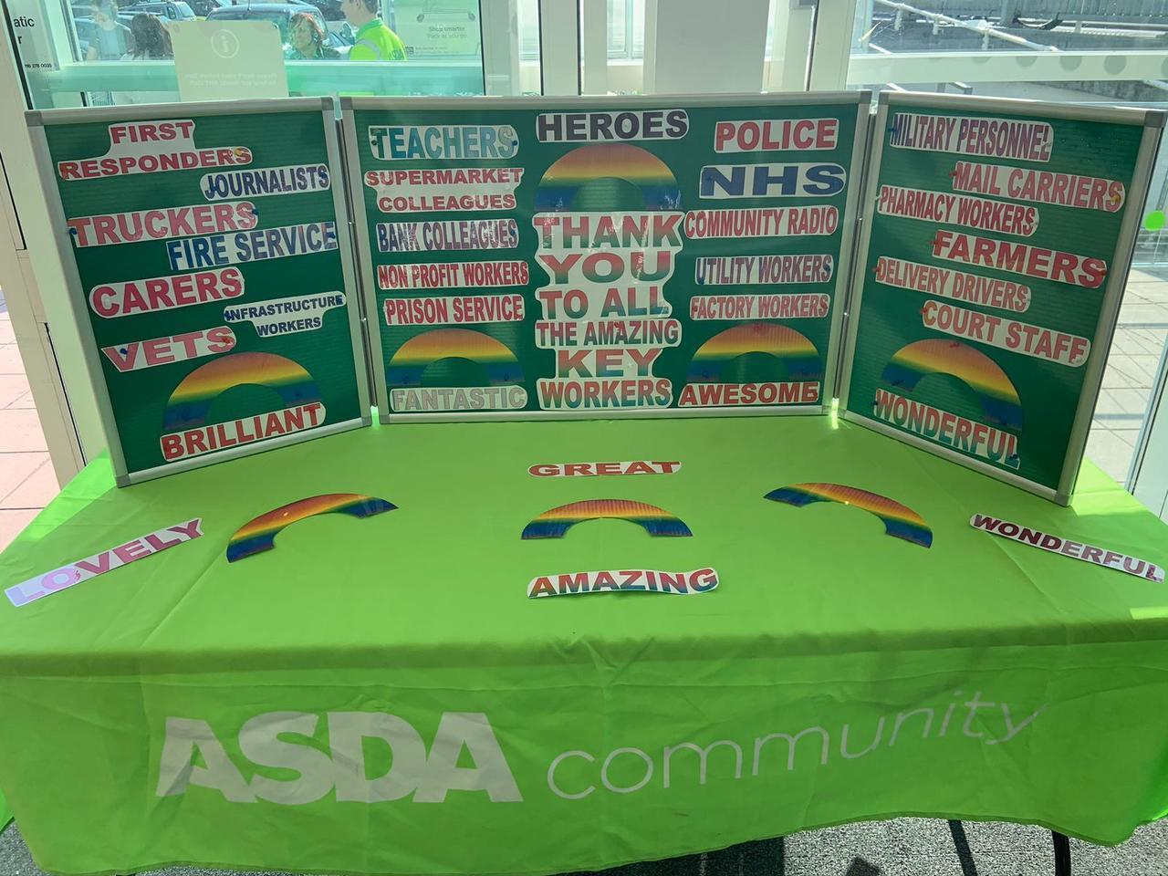 Thank you to all our Key Workers | Asda Sittingbourne