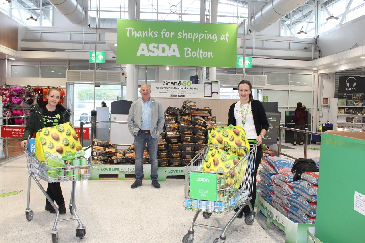 Bolton, Burnden Park and Farnworth stores food donation to Urban Outreach charity.    | Asda Bolton
