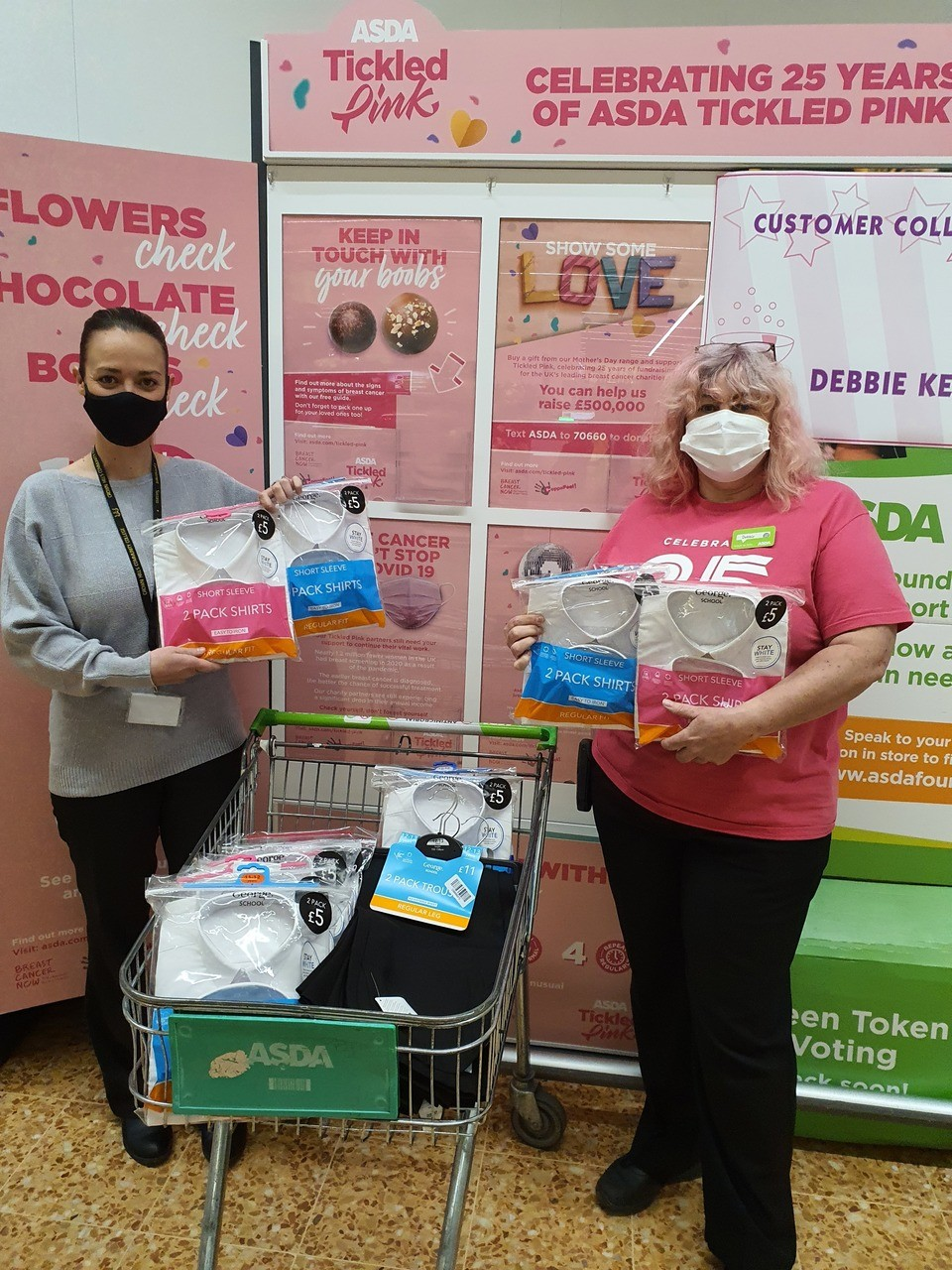 Uniform donation to Crown Hills Community College | Asda Leicester
