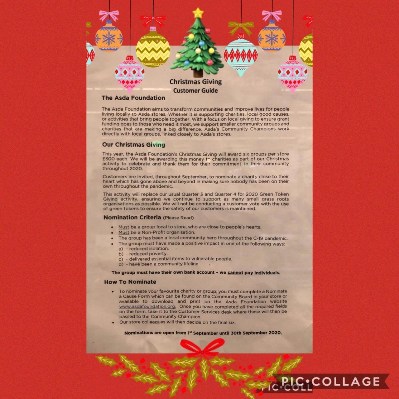 Christmas giving | Asda Widnes