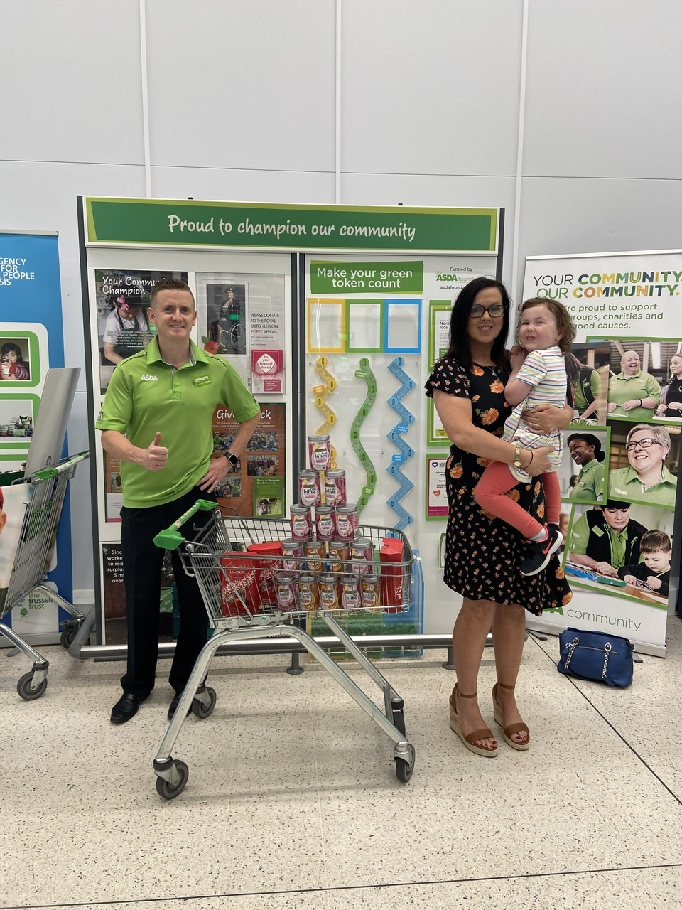 Donation to Inspire Wellbeing | Asda Enniskillen