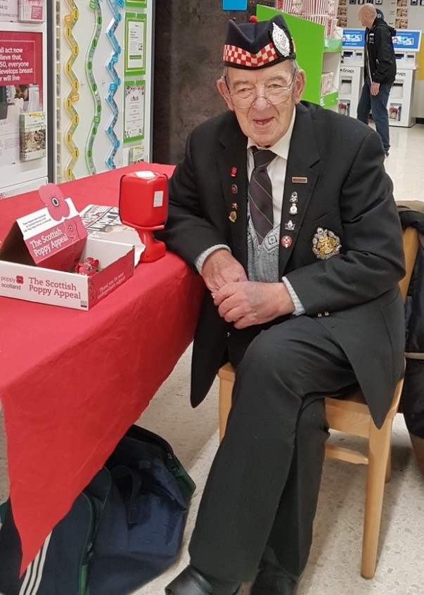 Poppy Appeal at Asda Falkirk