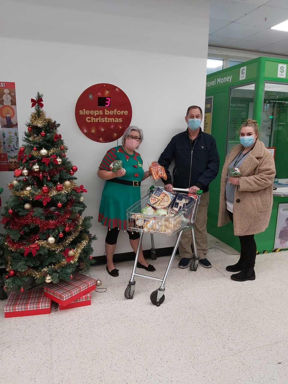 Christmas treats for supported living scheme | Asda Donnington Wood