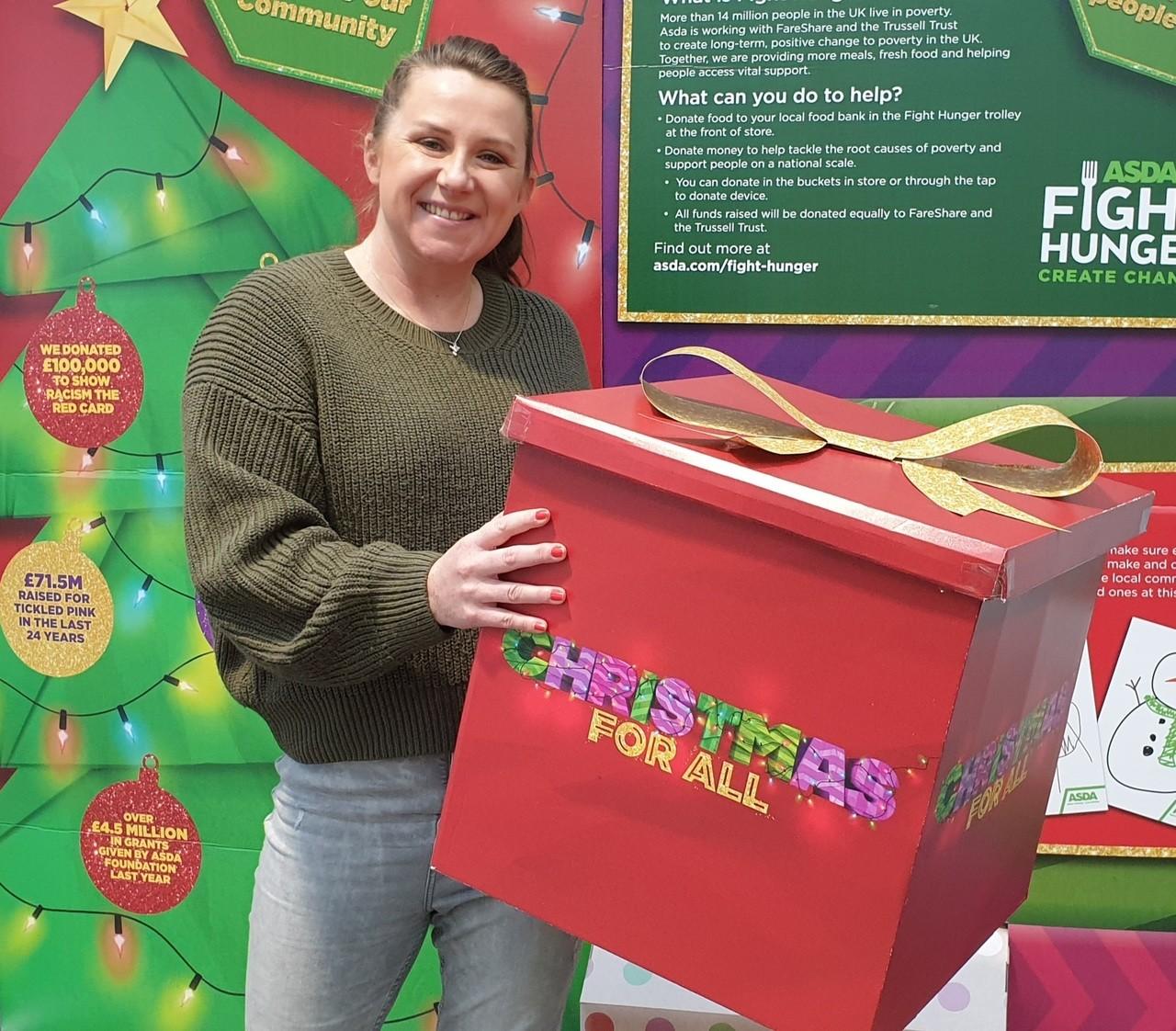 Christmas donation | Asda Toryglen