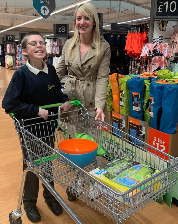 Mackenzie Morphey enjoys a behind the scenes tour of Asda Sittingbourne