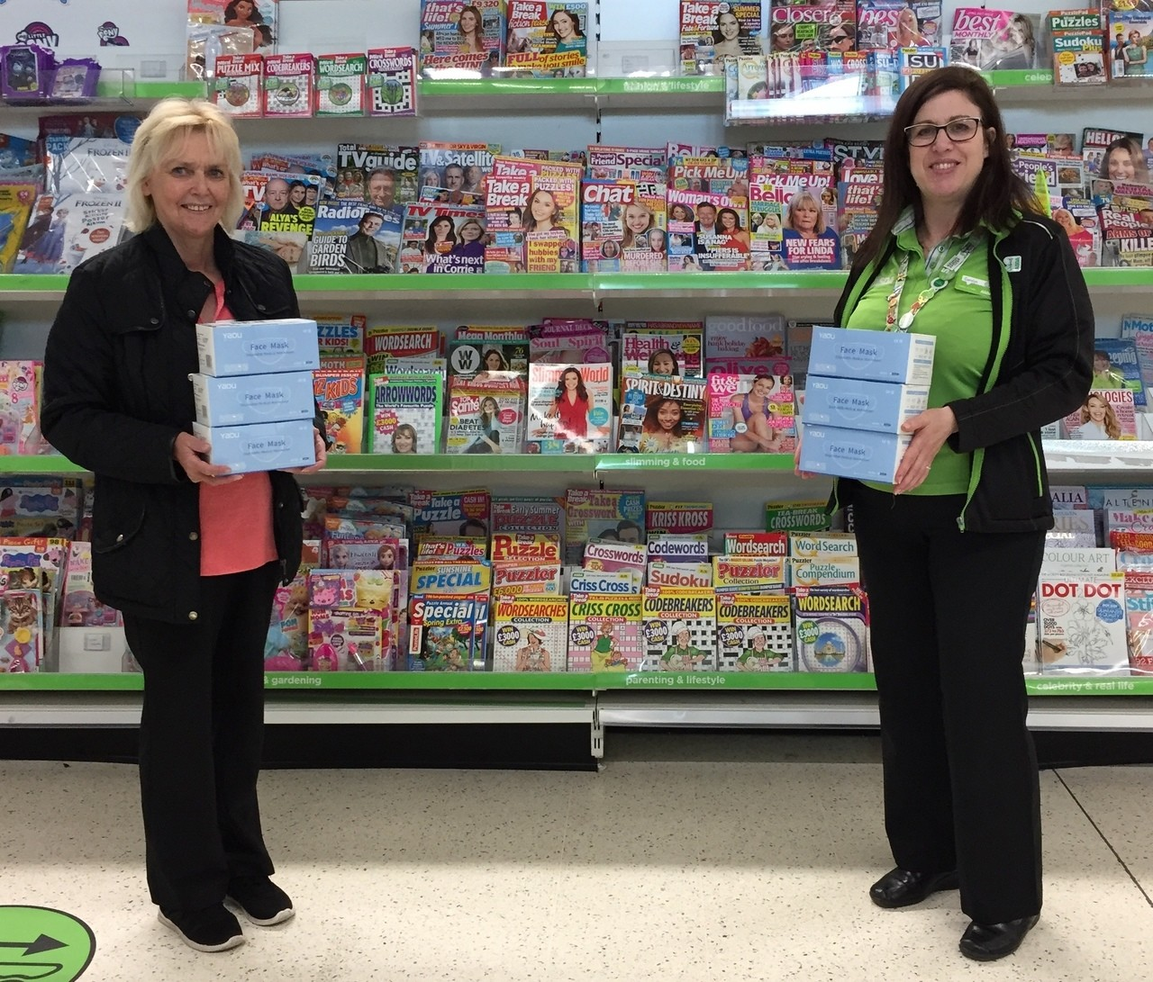 Donation of face masks from Asda Fraserburgh | Asda Fraserburgh