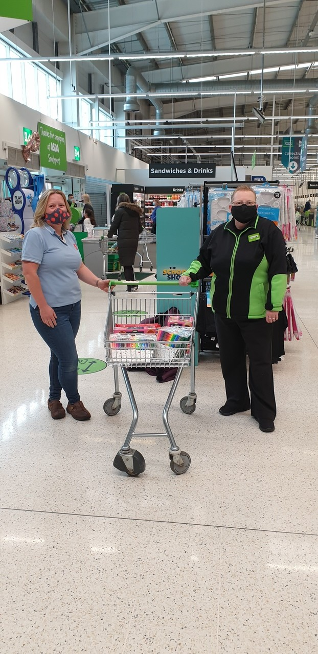 Southport Salvation Army donation | Asda Southport