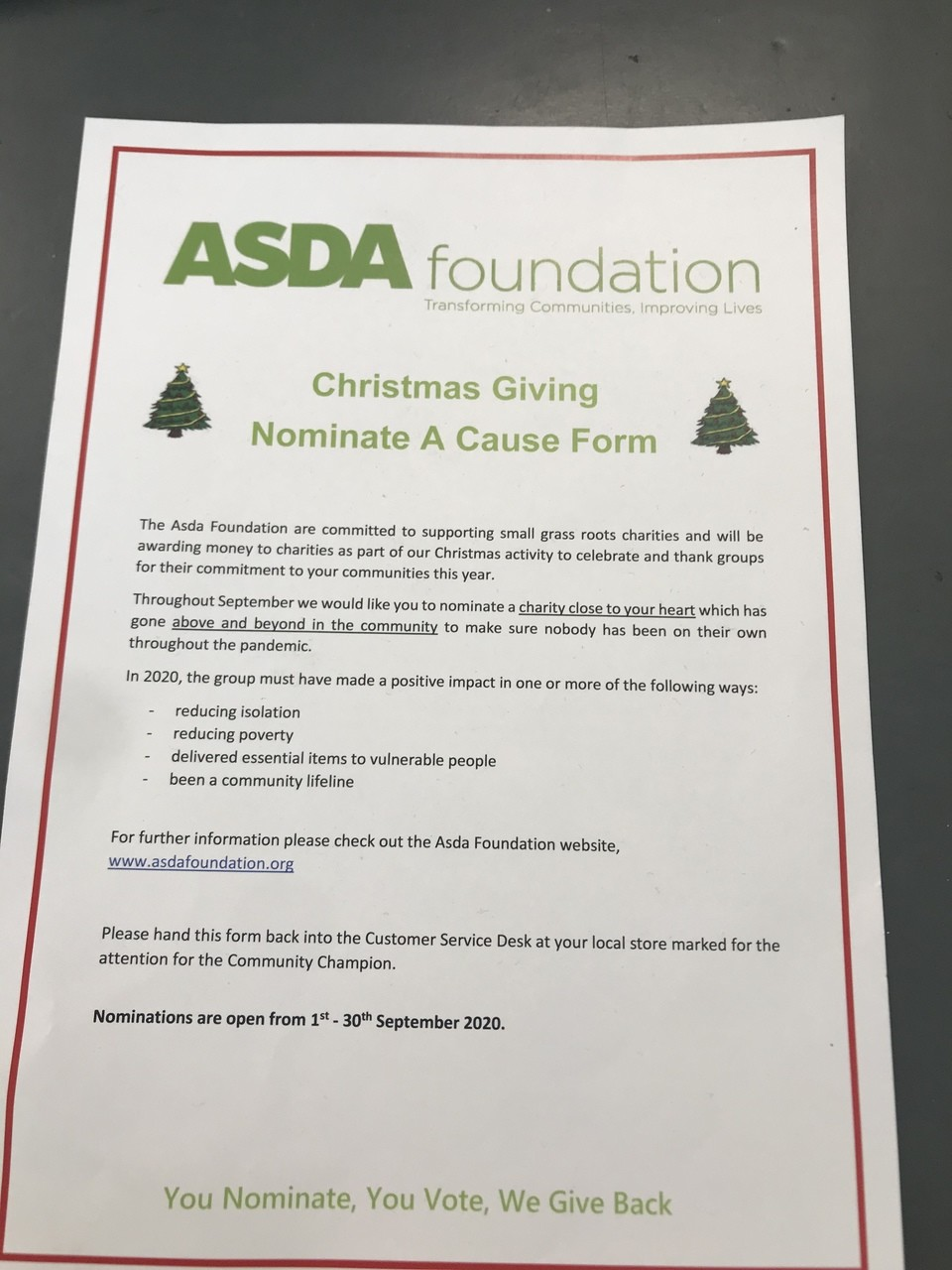 Christmas giving  | Asda Cardiff Bay