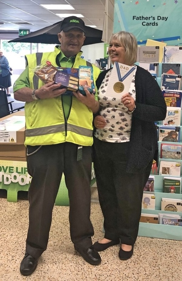 Ron Withers, 90, from Asda Gosport works with his daughter Lynn Reynolds