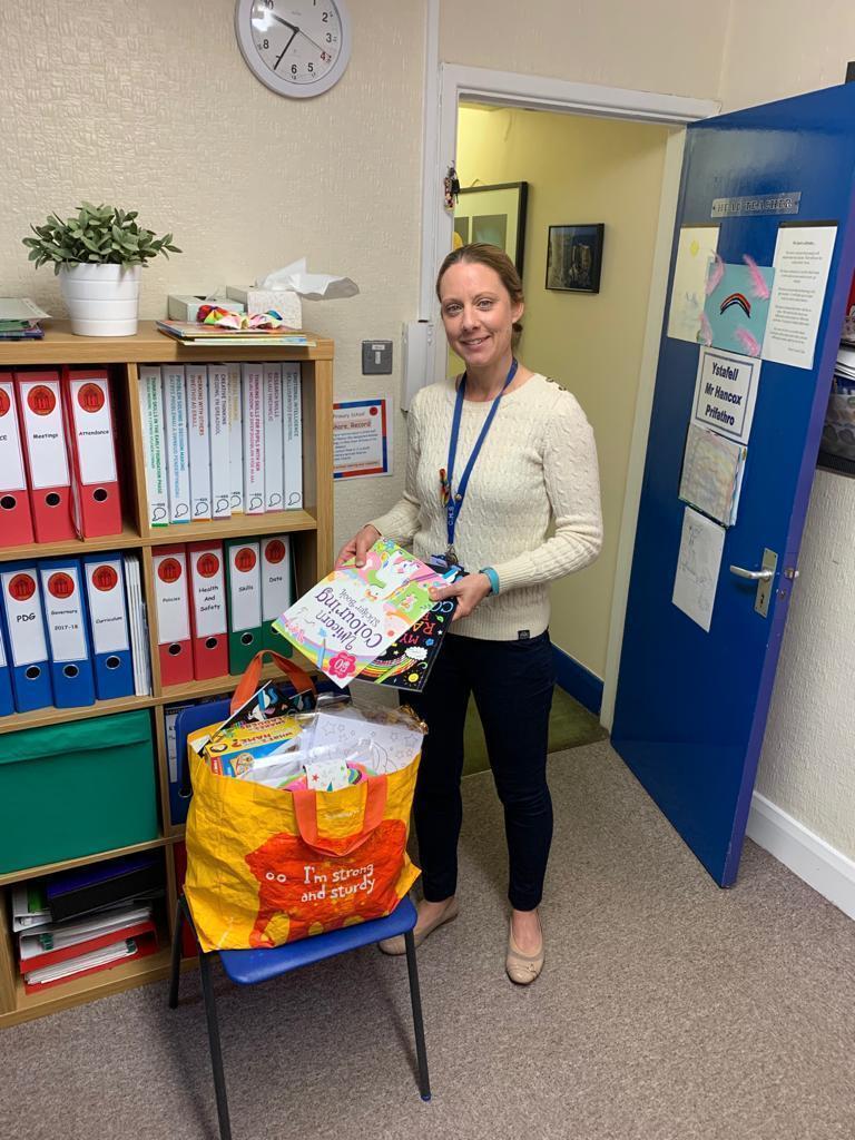Donation to Caedraw Primary school | Asda Merthyr Tydfil