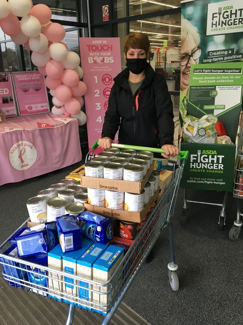 Donation of food to Gorse Hill Baptist Church to support families | Asda Swindon Haydon