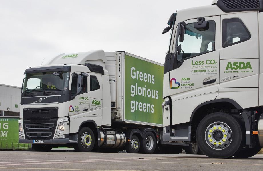 Asda trucks gas-powered