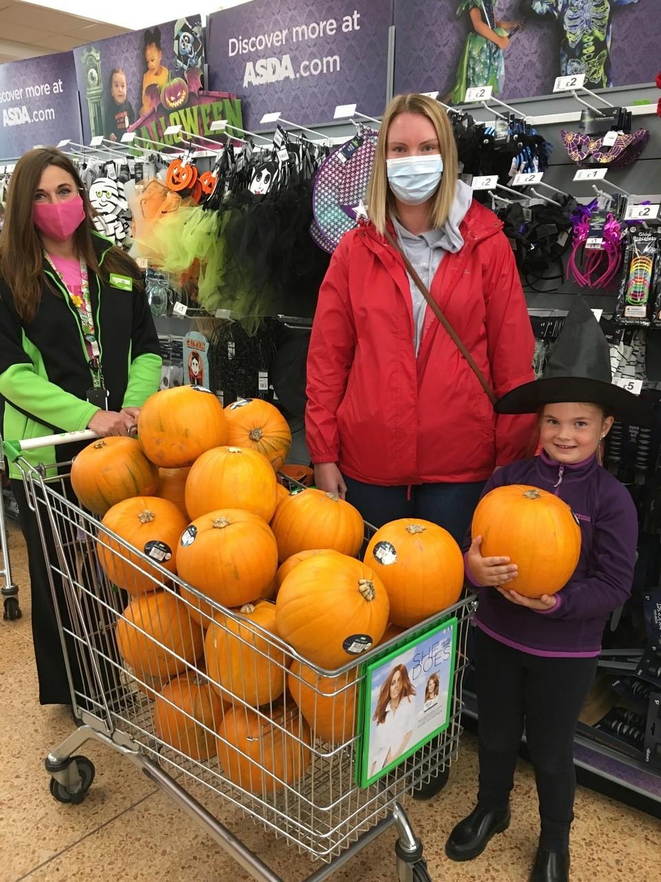 Pumpkin donations | Asda Longwell Green