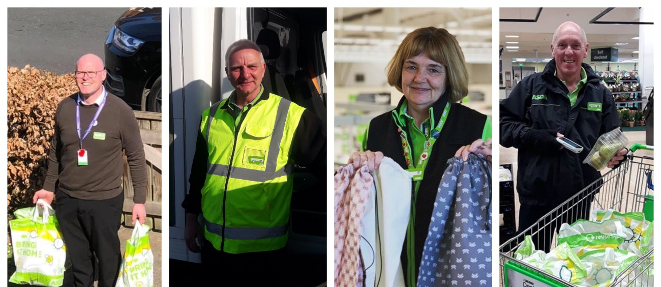 Asda colleagues helping customers during the coronavirus lockdown