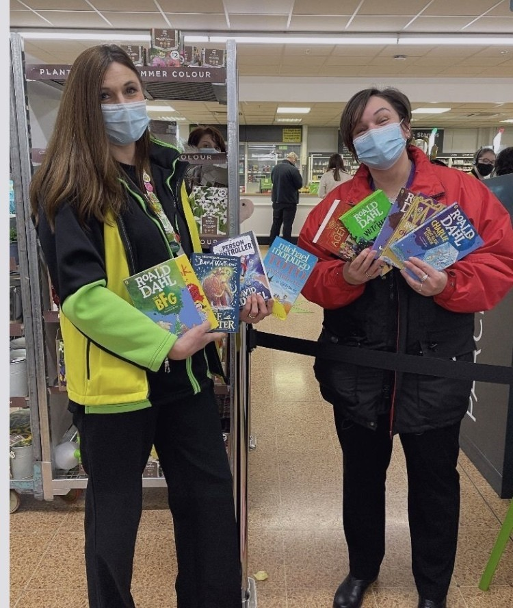 School book donation for World Book day | Asda Longwell Green