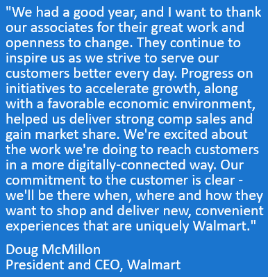 Doug's quote highlights the company's momentum in Q4 FY19