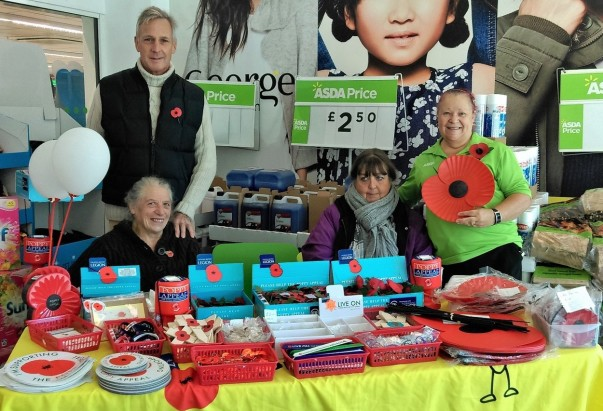 Poppy Appeal at Asda Weymouth