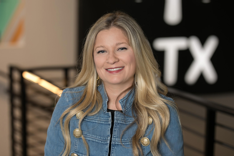 Associate Katey Barron at the new Walmart tech headquarters in Austin, Texas