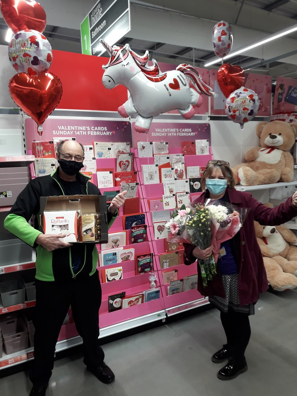 Treats and flowers for NHS charity | Asda Barnstaple
