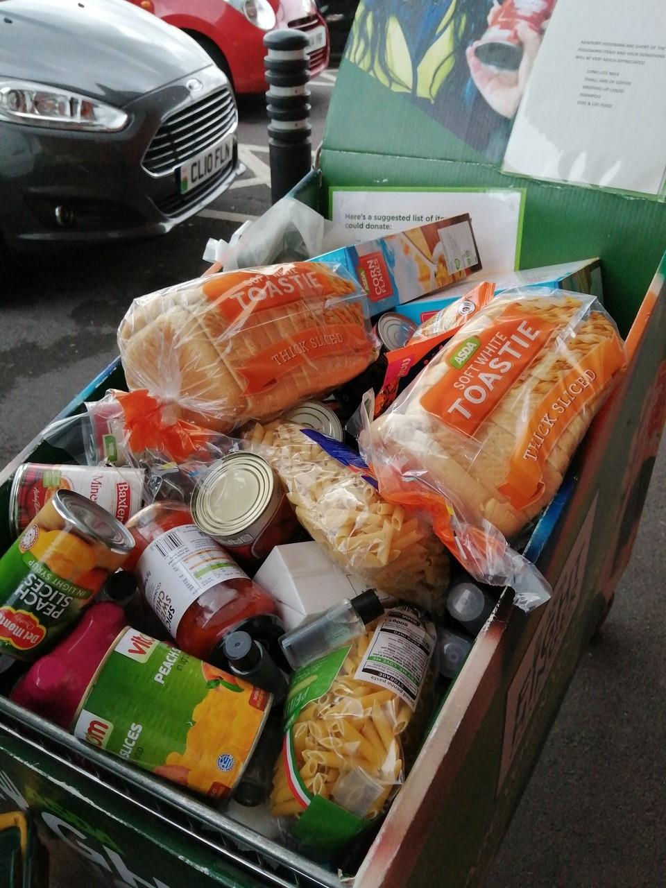 Foodbank support   Asda Newport Pillgwenlly