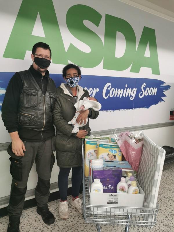 Baby Tyler Cooper Jones was born in the Asda Eastbourne car park