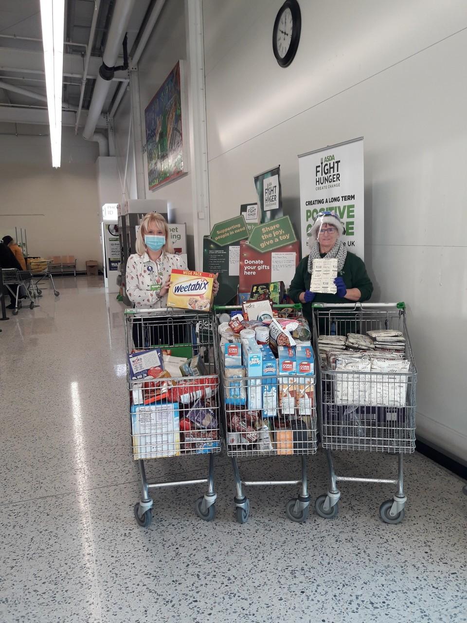 Food bank donations. | Asda Barry