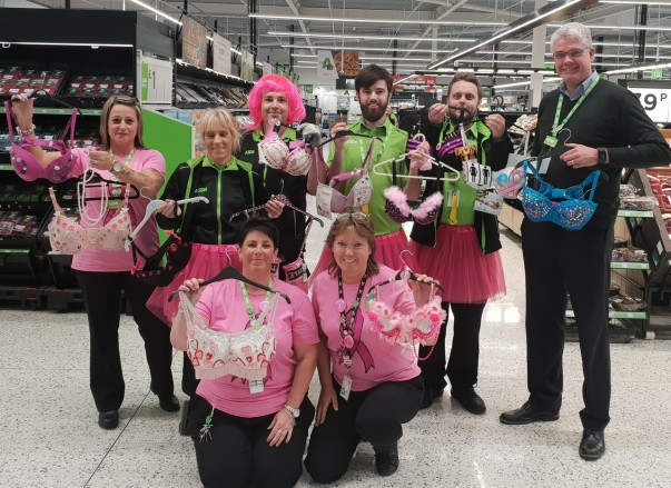 Asda Newport Isle of Wight colleagues during Tickled Pink