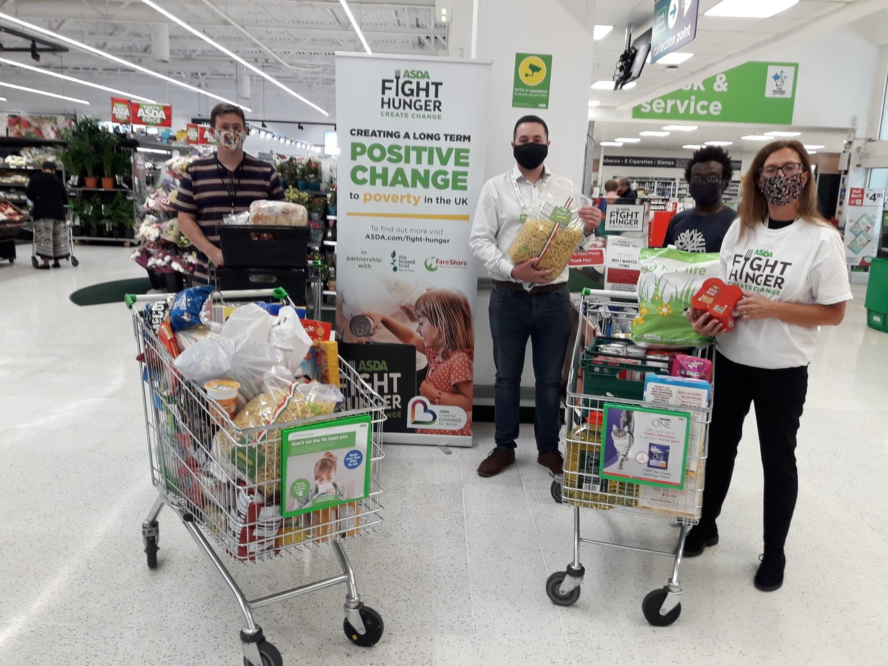 Open Hands Food Bank collection | Asda Oadby