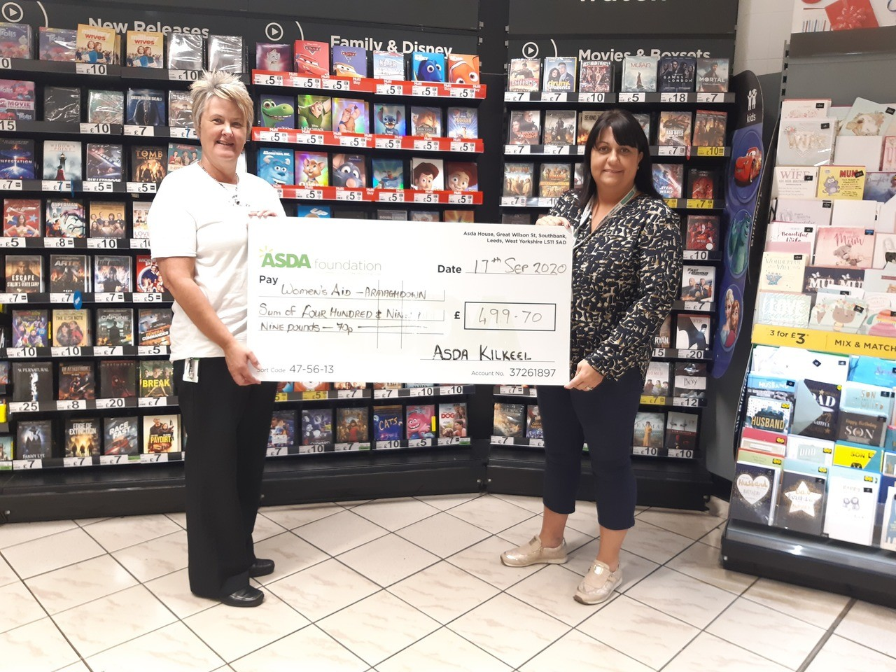 Womens Aid donation | Asda Kilkeel