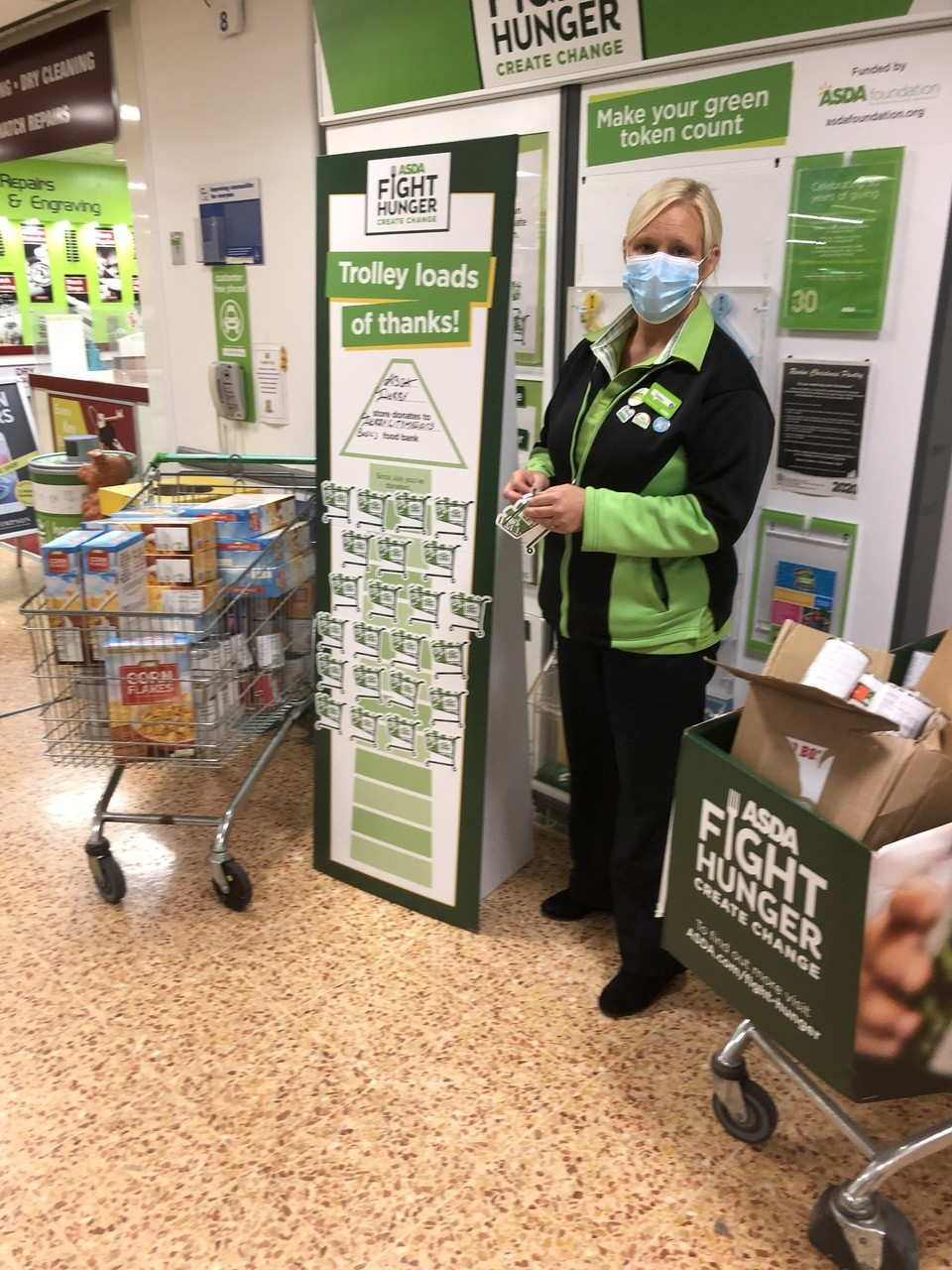 Amazing donations for our food bank  | Asda Derby