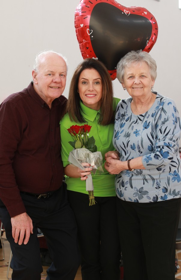 Noeleen McMahon from Asda Westwood organised a Valentine's Day party for members of Good Morning Colin
