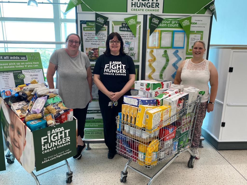 Donation for Telford Crisis Support | Asda Telford