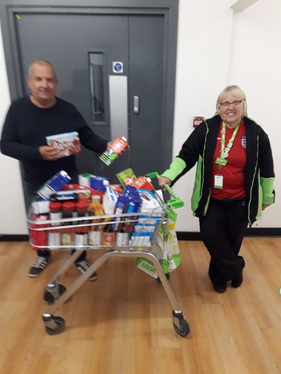 Donation to White Feather Project | Asda Thornaby