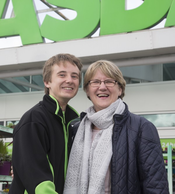 Joe Wastell from Asda Chatham with his mum Pauline