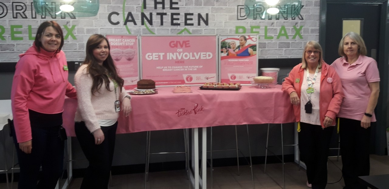 Cake sale in aid of Tickled Pink | Asda Kingshill