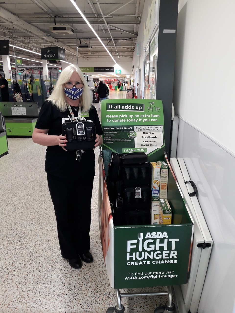 Donation to foodbank | Asda Barrow