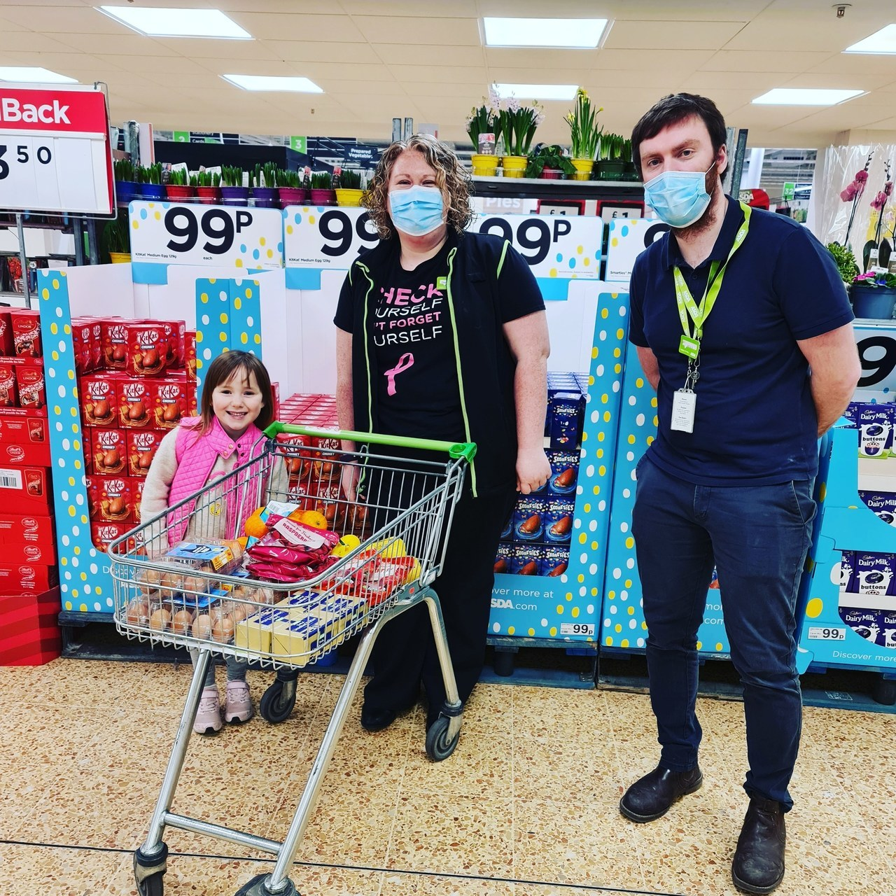 Helping young fundraiser support hospice   Asda Lancaster