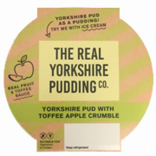 Asda are selling Apple Crumble and Toffee Yorkshire puddings