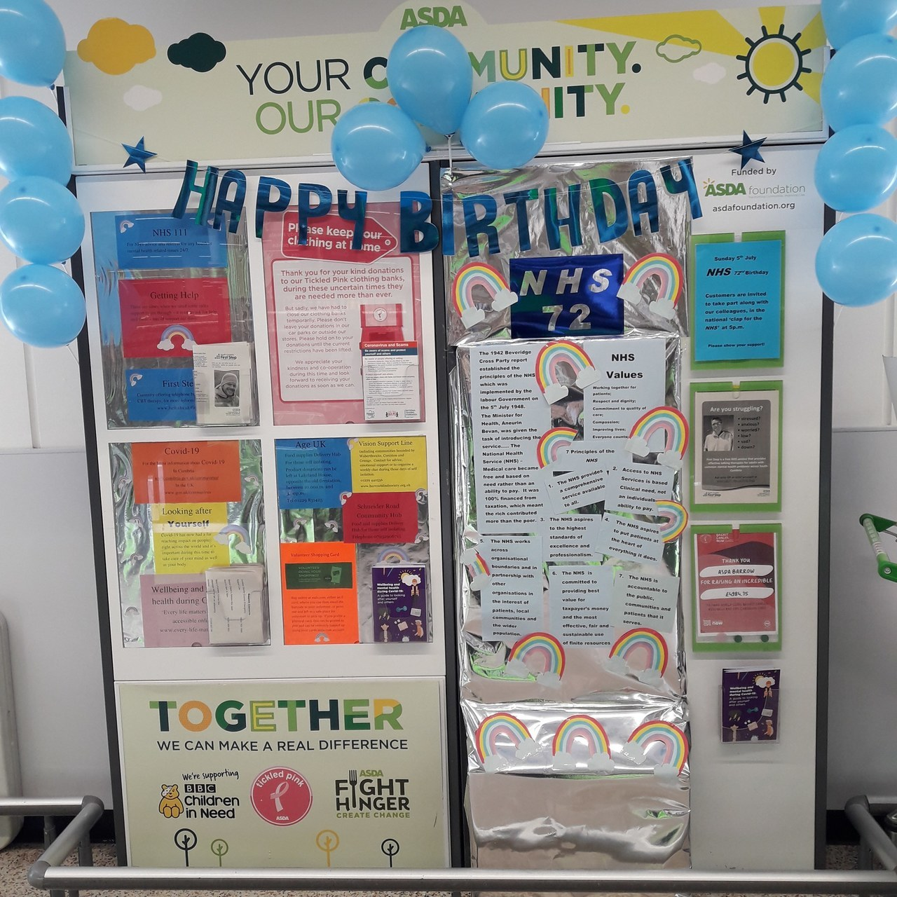 Happy 72nd birthday NHS! | Asda Barrow