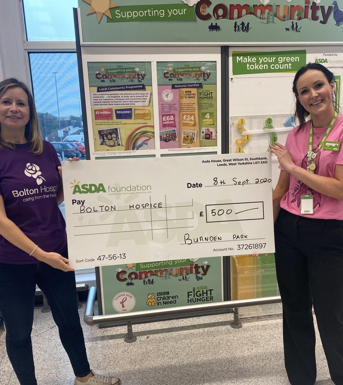 Hygiene grant for Hospice | Asda Burnden Park