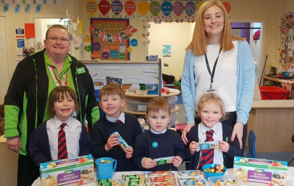 Sharon Gregory-Wareing from Asda Southport held a healthy eating class at St Philip's Primary School