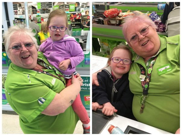 Izzy Ralston from Asda Toryglen has struck up a close relationship with her honorary granddaughter Ellie McShane