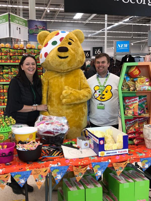 Supporting BBC Children in Need at Asda Enniskillen