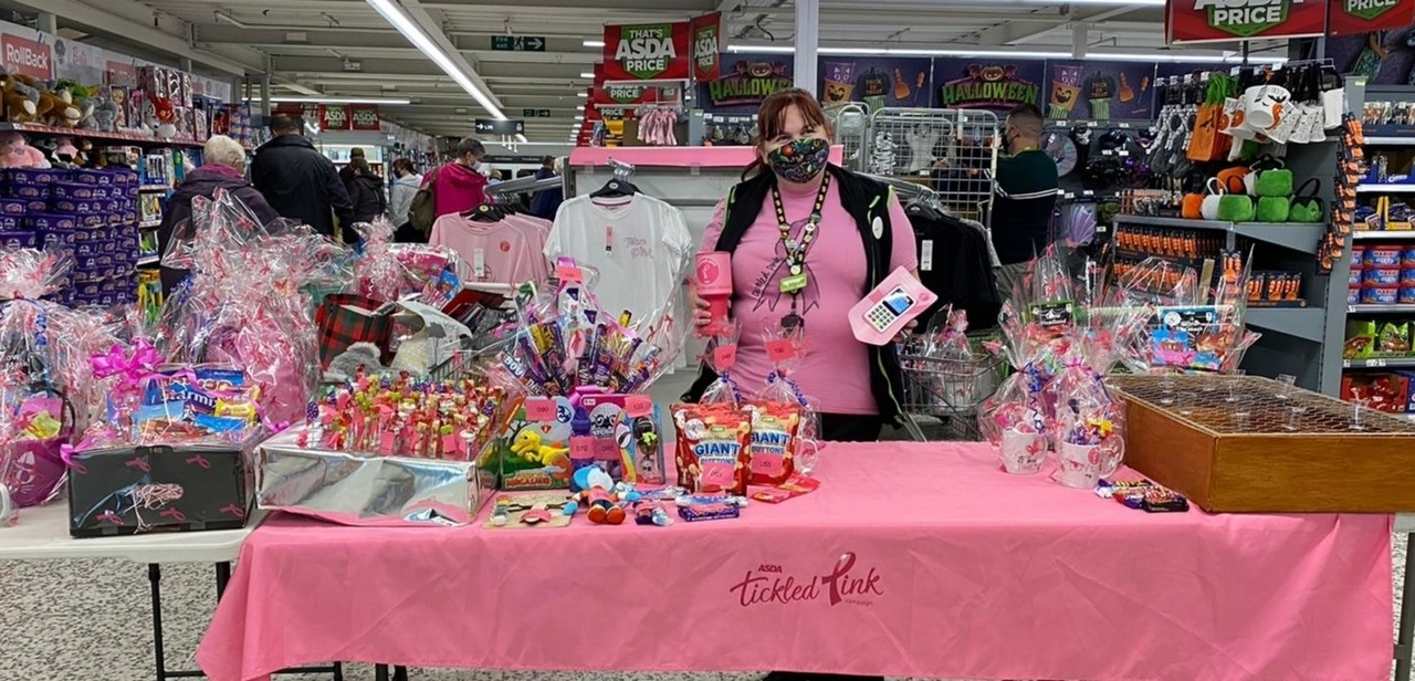Tickled Pink fundraising | Asda Fareham
